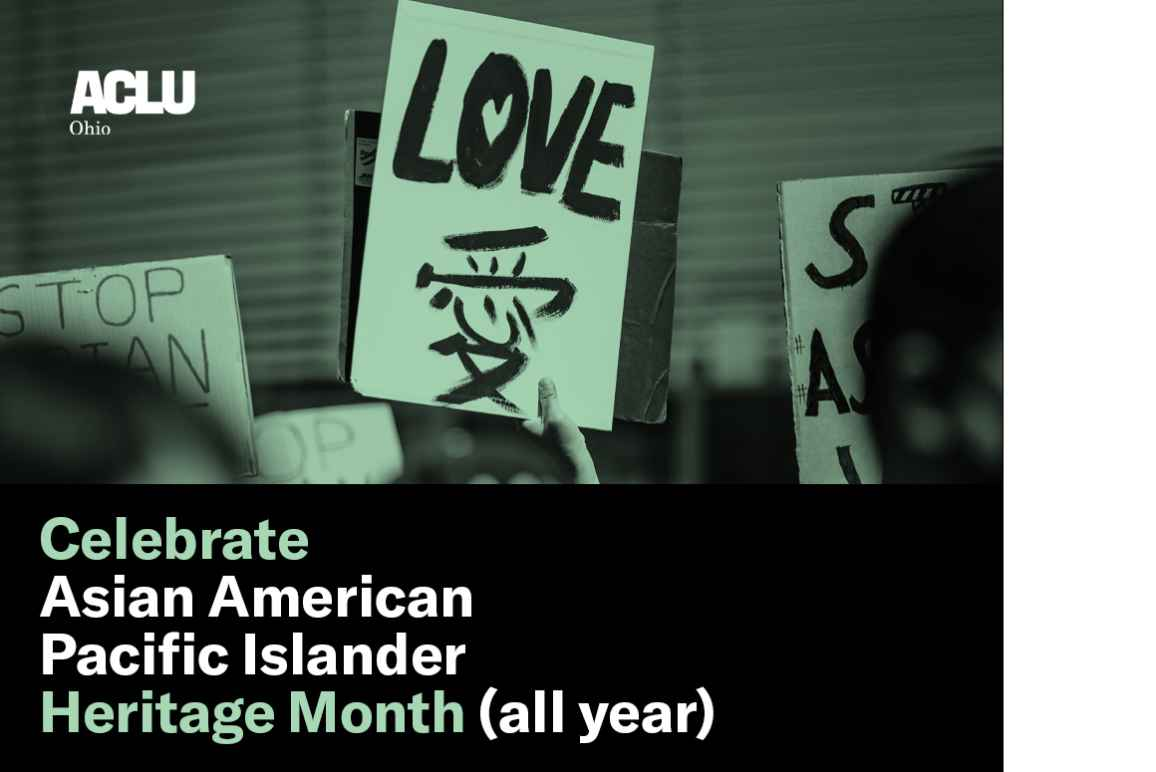 Celebrate Asian American Pacific Islander Heritage Month (all year) with a sign that says 'Love' written in english and Mandarin with a green color overlay
